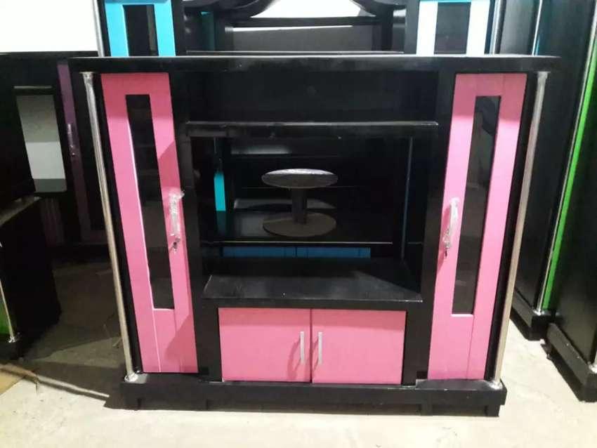 Bufet TV avanza murah warna pink bahan triplek tebal 0