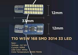 Lampu LED T10 1 sisi 33 titik 3014 super bright