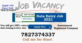 Looking Typing candidate from your place. Just dial number and get job