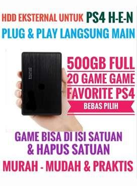 HDD 500GB Bonus 20 Game PS4 Murah Meriah Harganya Mantap Bebas Pilih