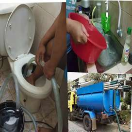 ahli wc mampet/sedot wc+saluran mampet cucian piring mampet