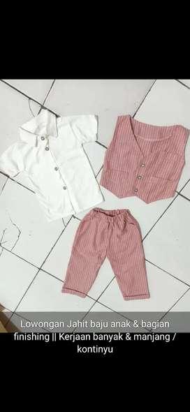 Jahit baju anak (diproses / satuan)