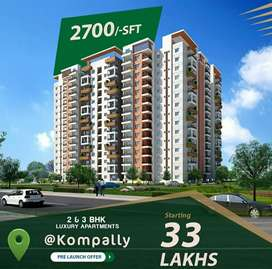 Luxury 2&3BHK flats in Gated community with 5star amenities@Kompally