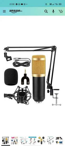 Mic with stand for mobiles, Computer and laptop