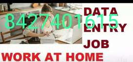 Data entry work for housewife and students