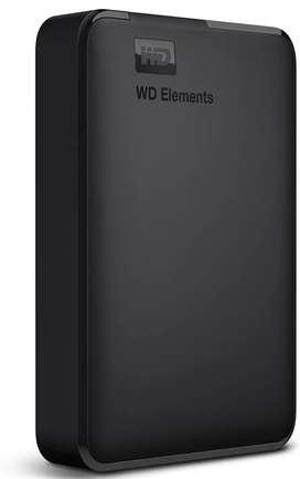 Wd western digital elements 4tb portable external hard drive black