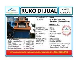 Ruko 3 Lantai,Lokasi Strategis. Depan Kantor pajak Banjarbaru