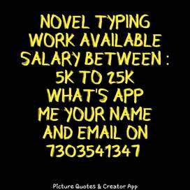 simple typing work available for every one