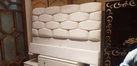 marble style back bed set