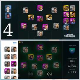 Account pes 2020 mobile