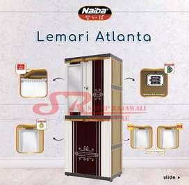 Lemari plastik naiba 9234 led susun 4 awet murah area jogja (est)