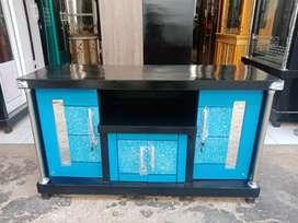 Meja TV murah / Bufet TV pendek murah bahan triplek tebal warna biru