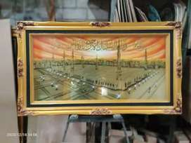 Kaligrafi Besar Masjid Nabawi Madina Bahan Kuningan