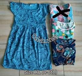Dress anak kaos XL