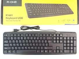 N E W R-ONE Standard Keyboard USB untuk Notebook/Netbook/Laptop/PC