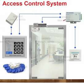 Rfid card & code Wooden Electric Door lock accesss control system