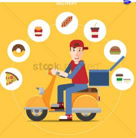 walk in for delivery boys for food deliverry