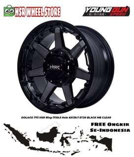 Velg Mobil Ring 17 Lubang 6 HSR DOLAGO Velg Pajero Sport Fortuner DLL