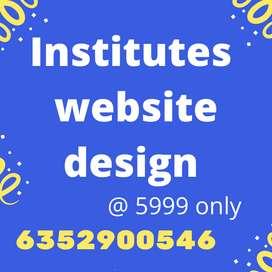 INSTITUTE WEBSITE DESIGN ONLY
