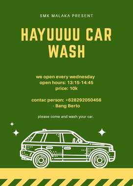 Cuci steam Hayuuu car wash