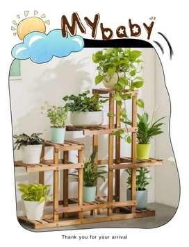 Rak bunga bahan natural pinus