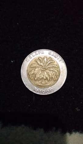 Uang Koin 1000 kelapa sawit 1997 langka