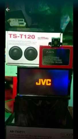 paket TV JVC second + kamera  , tweeter , sub, power.