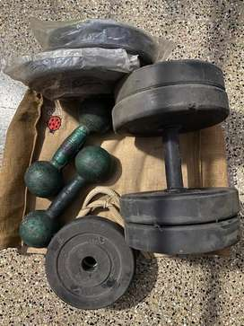 Dumbbells - 2 sets with multiple weights