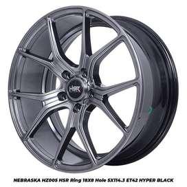type velg racing>>NEBRASKA HZ005 HSR R18X8 H5X114,3 ET42 HB
