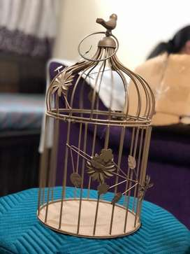 Metal bird cage decorative piece new unused