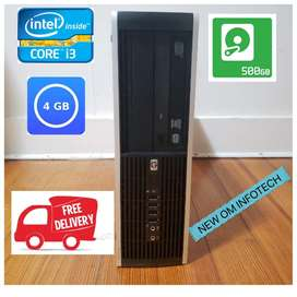 HP i3 PC/4GB RAM/500GB HDD/ 1 YEAR SERVICE WARRANTY/ CALL NOW