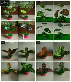 Bunga hias artificial imitasi palsu plastik daun k13