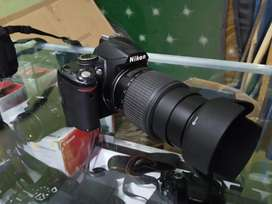 Nikon D3000 with 55-200mm bluring camera