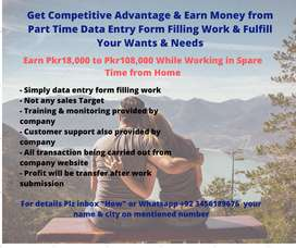 Get Competitive Advantage & Earn Money from Part Time Data Entry Work