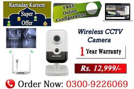 Wireless CCTV Camera (Two Way Communications)