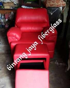 kursi refleksi atau kursi pijat refleksi merah dakron