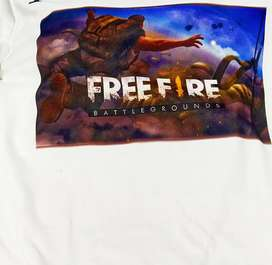 Free fire shirt printing your name or free fire logo