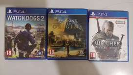 WITCHER 3, WATCHDOGS 2, ASSASSIN'S CREED, SONY PS4