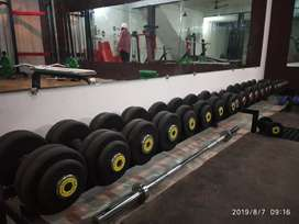Gym full set up price negotiable