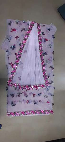 Designed embroidered sarees