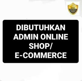 Lowongan Admin Cs Online Shop/ E-Commerce