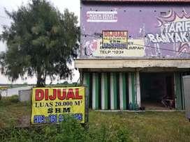 Tanah tambak+rumah nol jalan raya provinsi