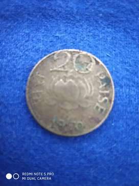 20 paise gold coin 1970