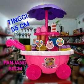 Mainan gerobak es krim besar