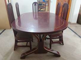 Wooden dining table 6 seater deco paint