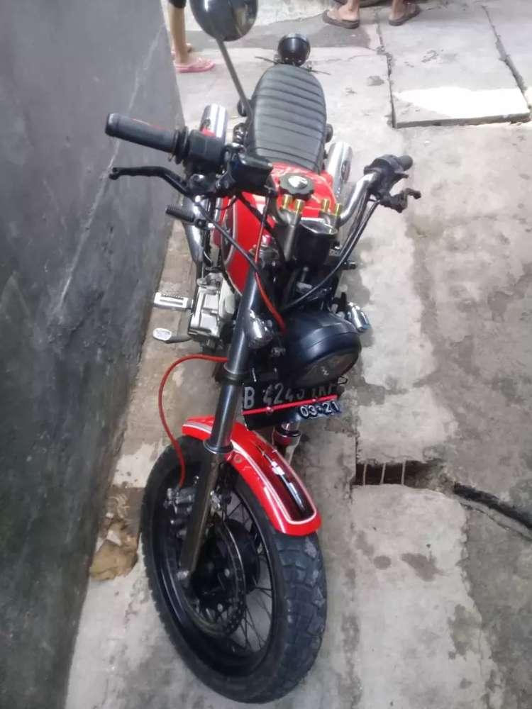 Di jual motor custom basik Tiger 2005.