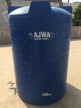 Three water tanks in good condition.
