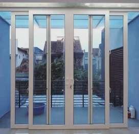 Pintu kaca kusen alumunium cimahi
