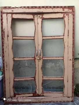 handcrafted wooden almirah fitted doors