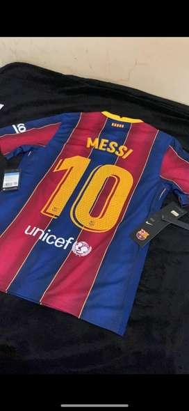Jersey Kit Barcelona Home 20/21 2020/2021 Nameset MESSI 10
